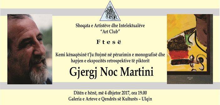 Gjergj Noc Martini – Përurimi i monografisë dhe ekspozita retrospektive