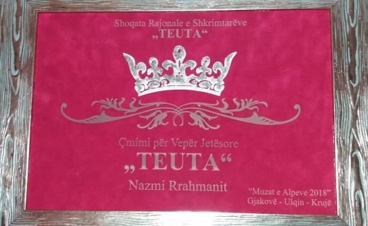 """Çmimi për Veprën Jetësore """"Teuta"""", i ndahet shkrimtarit nga Kosova"""