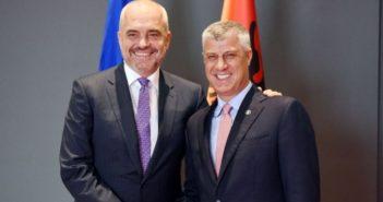 Takim Thaçi-Rama: Hapje e plotë e kufirit Kosovë-Shqipëri