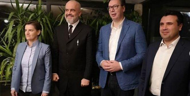 Rama darkë në Serbi me Vuçiq, Zaev dhe me Brnabiq