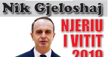"""Nik Gjeloshaj shpallet """"Njeriu i Vitit 2019″"""