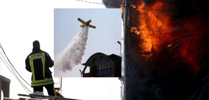 """Zjarri i madh kaplon dyqanet """"Dadi"""" dhe """"Gjeçeviq"""" në Tuz (Foto)"""